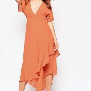 Asos Midi Dress with Plunge Neckline